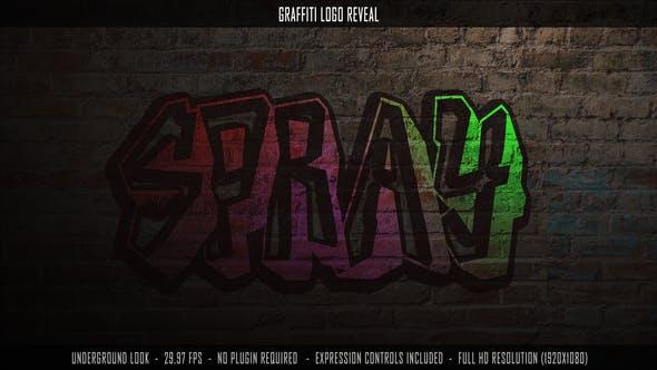 AE模板-抽象电影城市涂鸦嘻哈音乐油漆喷雾街头艺术风格城市墙开场