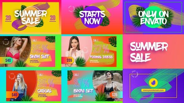 AE模板-时尚媒体产品促销多彩广告宣传展示开场