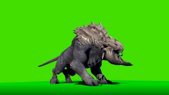 绿幕抠像-恶魔狗绿屏3D