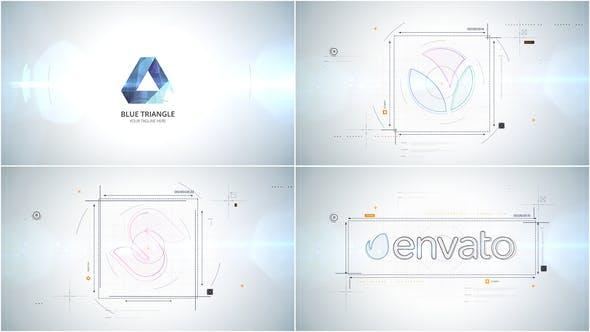 AE模板-简约动态优雅干净几何线条LOGO展示