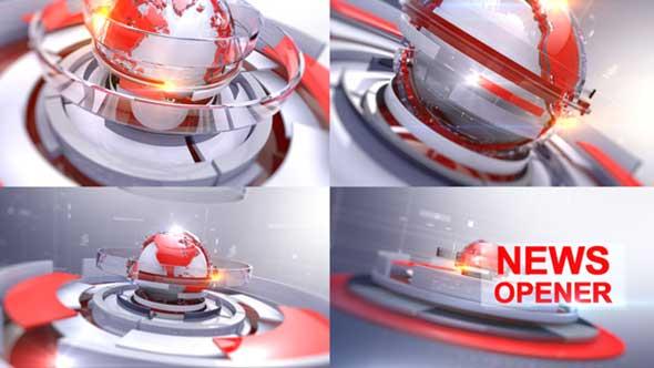 AE模板-3D科技感地球新闻商务经济电视栏目包装片头