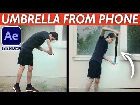 AE教程-从手机中取雨伞特效制作