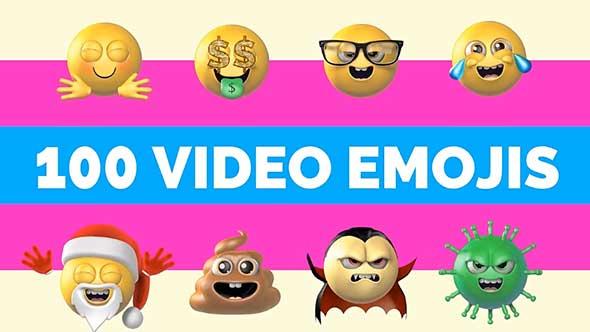 视频素材-三维卡通搞怪脸部表情循环动画