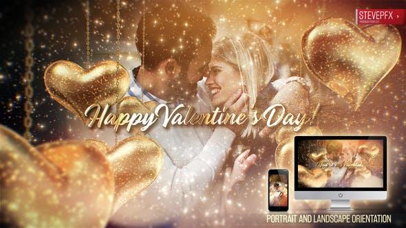 AE模板-婚礼情人节温馨浪漫相册展示视频