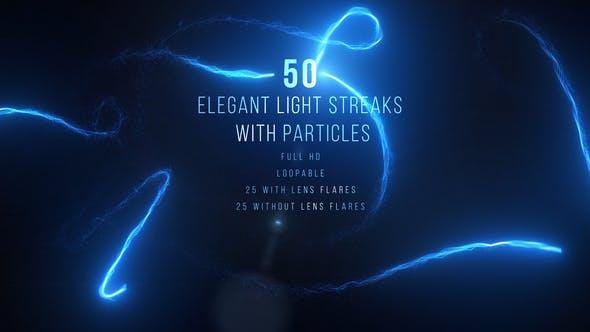视频素材-蓝色粒子发光拖尾线条路径动画