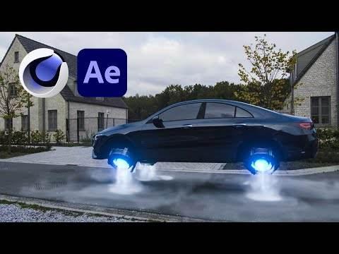 AE/C4D教程-使用Cinema 4D + Octane和After Effects制作科幻飞行汽车合成特效