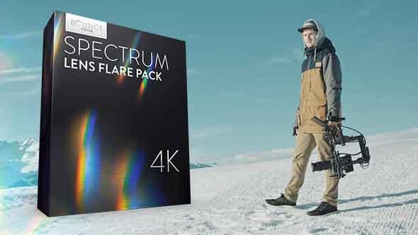 视频素材-25组4K棱镜光谱耀斑炫光动画