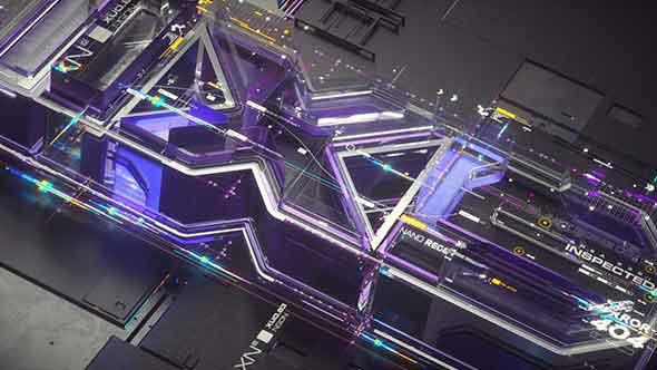 C4D工程-C4D octane 广播场景设计动画3D模型