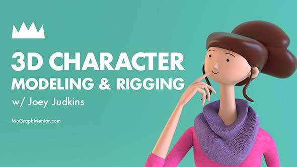 C4D教程-3D卡通角色建模动画绑定教程