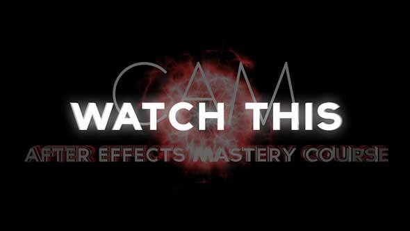 AE教程-视频后期特效合成入门到高级