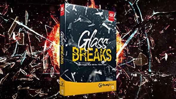 视频素材-184个4K玻璃炸开破碎慢动作特效动画